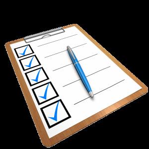 Bild einer Checklist