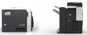 Bild eines Netzwerkdruckers und eines Multifunktionssystems